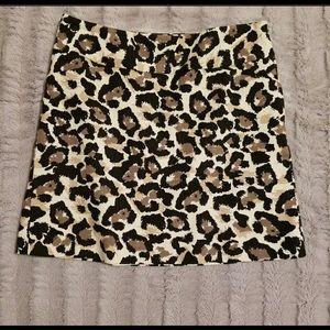 Ann Taylor Leopard Print Skirt